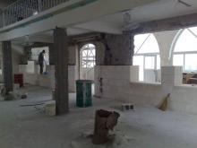 saha cami onarılıyor