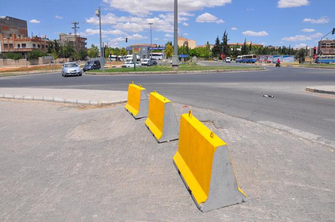 Galericiler Sitesi Yolunda Trafik önlemi...