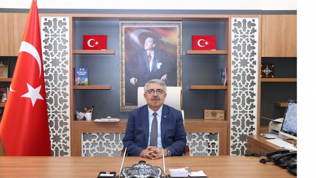 İlçe Milli Eğitim Müdürümüz Sayın Cengiz GÜNDEŞ'te...