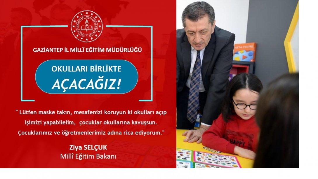 "Gaziantep İl Millî Eğitim Müdürlüğümüzün ""Oku..."